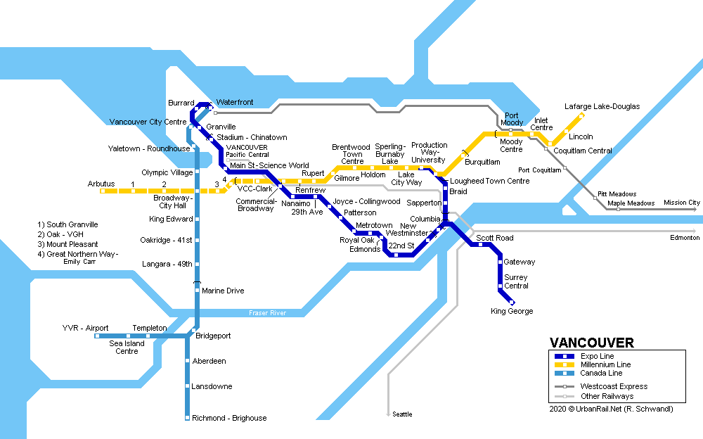 Metrô em Vancouver