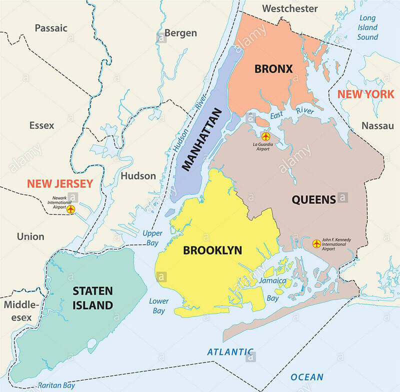 Tudo sobre Nova York: distritos da cidade